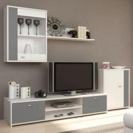 Tempo Kondela Obývací stěna GENTA - bílá / šedá