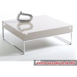 Tempo Kondela Konferenční stolek BOTTI - bílá extra vysoký lesk