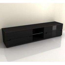 Tempo Kondela Televizní stolek ADONIS AS 30 - černý vysoký lesk
