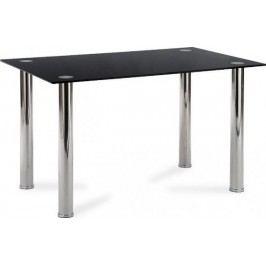 Autronic Stůl jídelní AT-1011 BK - Černé sklo + kupón KONDELA10 na okamžitou slevu 10% (kupón uplatníte v košíku) Jídelní stoly