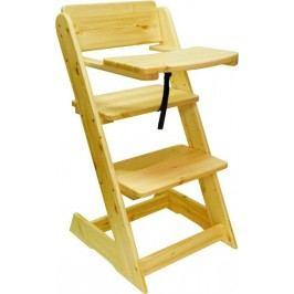 ATAN Dětská rostoucí židle s pultíkem Borovice - surové dřevo + kupón KONDELA10 na okamžitou slevu 10% (kupón uplatníte v košíku)