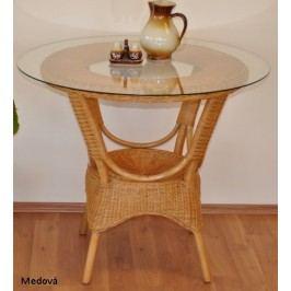 Axin Trading Ratanový jídelní stůl Wanuta Koňak + kupón KONDELA10 na okamžitou slevu 10% (kupón uplatníte v košíku) Jídelní stoly