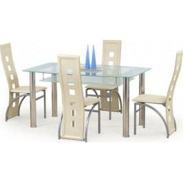 Halmar Jídelní stůl Cristal Černé sklo + kupón KONDELA10 na okamžitou slevu 10% (kupón uplatníte v košíku) Jídelní stoly