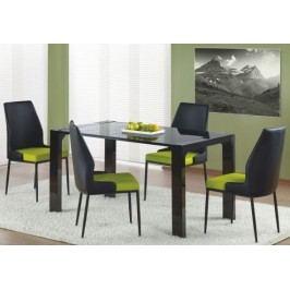 Halmar Jídelní stůl Kevin Černé sklo/konstrukce černá + kupón KONDELA10 na okamžitou slevu 10% (kupón uplatníte v košíku) Jídelní stoly