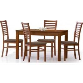 Halmar Jídelní stůl Ernest 120/160 Ořech tmavý + kupón KONDELA10 na okamžitou slevu 10% (kupón uplatníte v košíku)