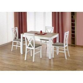 Halmar Jídelní stůl Maurycy Ořech tmavý/bílá + kupón KONDELA10 na okamžitou slevu 10% (kupón uplatníte v košíku)