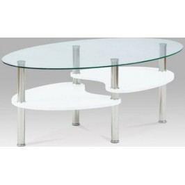 Autronic Konferenční stolek AF-2007 WT2 - Bílá-vysoký lesk + kupón KONDELA10 na okamžitou slevu 10% (kupón uplatníte v košíku)