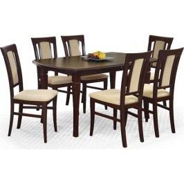 Halmar Jídelní stůl Fryderyk 160/200 lamino - ořech tmavý + kupón KONDELA10 na okamžitou slevu 10% (kupón uplatníte v košíku)
