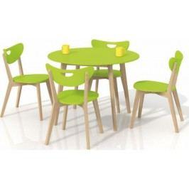 Halmar Jídelní stůl Peppita Bílý + kupón KONDELA10 na okamžitou slevu 10% (kupón uplatníte v košíku) Jídelní stoly