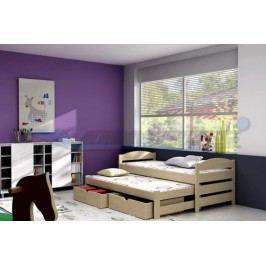 Vomaks Dětská postel s výsuvnou přistýlkou DPV 009 200 cm x 90 cm Barva bílá + kupón KONDELA10 na okamžitou slevu 10% (kupón uplatníte v košíku)