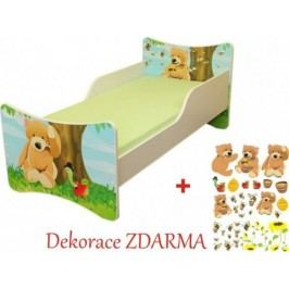 Forclaire Dětská postel Medvídek postel s úložným prostorem 200x90cm + kupón KONDELA10 na okamžitou slevu 10% (kupón uplatníte v košíku)