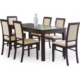 Halmar Jídelní stůl Ernest 160/200 Ořech tmavý + kupón KONDELA10 na okamžitou slevu 10% (kupón uplatníte v košíku)