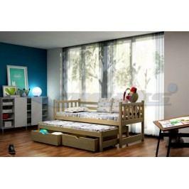 Vomaks Dětská postel s výsuvnou přistýlkou DPV 006 200 cm x 90 cm Barva bílá + kupón KONDELA10 na okamžitou slevu 10% (kupón uplatníte v košíku)