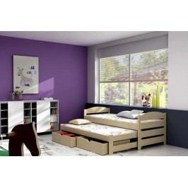 Vomaks Dětská postel s výsuvnou přistýlkou DPV 009 KOMPLET 200 cm x 90 cm Barva bílá + kupón KONDELA10 na okamžitou slevu 10% (kupón uplatníte v košíku)