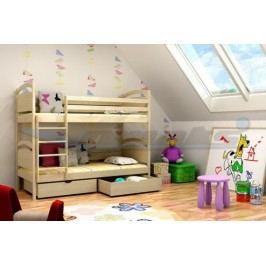 Vomaks Patrová postel PP 006 200 cm x 90 cm Barva bílá + kupón KONDELA10 na okamžitou slevu 10% (kupón uplatníte v košíku)
