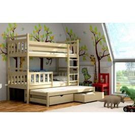 Vomaks Patrová postel s výsuvnou přistýlkou PPV 004 200 cm x 90 cm Barva bílá + kupón KONDELA10 na okamžitou slevu 10% (kupón uplatníte v košíku)