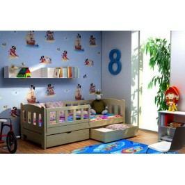Vomaks Dětská postel DP 002 + zásuvky 200 cm x 80 cm Barva bílá + kupón KONDELA10 na okamžitou slevu 10% (kupón uplatníte v košíku)