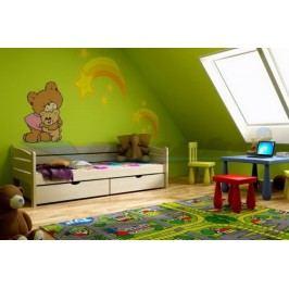 Vomaks Dětská postel DP 010 200 cm x 90 cm Barva bílá + kupón KONDELA10 na okamžitou slevu 10% (kupón uplatníte v košíku)