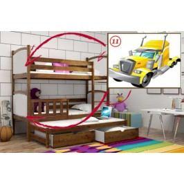 Vomaks Patrová postel s výsuvnou přistýlkou PPV 005 - 11 Tahač 200 cm x 90 cm Barva bílá + kupón KONDELA10 na okamžitou slevu 10% (kupón uplatníte v košíku)