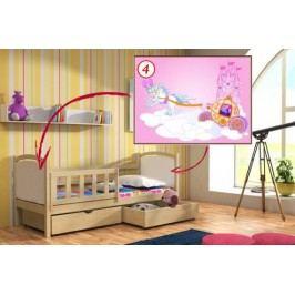 Vomaks Dětská postel DP 013 - 04 Kočár + zásuvky 200 cm x 90 cm Barva bílá + kupón KONDELA10 na okamžitou slevu 10% (kupón uplatníte v košíku)