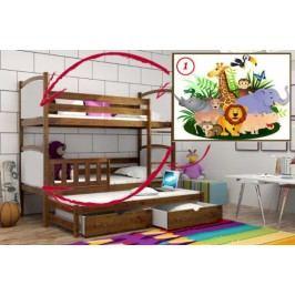 Vomaks Patrová postel s výsuvnou přistýlkou PPV 005 - 01 Safari 200 cm x 90 cm Barva bílá + kupón KONDELA10 na okamžitou slevu 10% (kupón uplatníte v košíku)