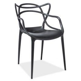 Casarredo Jídelní židle TOBY černá