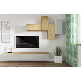 Casarredo Obývací stěna REGINA dub artisan/stone gray
