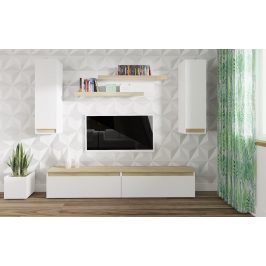 Casarredo Obývací stěna IDAHO dub sonoma/bílá mat