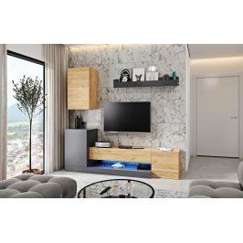 Casarredo Obývací stěna WINNY dub wotan/antracit mat