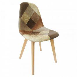 Tempo Kondela Jídelní židle SALEVA - patchwork/buk