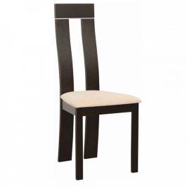 Tempo Kondela Jídelní židle DESI NEW - wenge/béžová látka Židle do kuchyně