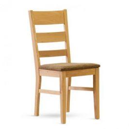 Stima Dřevěná židle Paul čalouněná - masiv dub