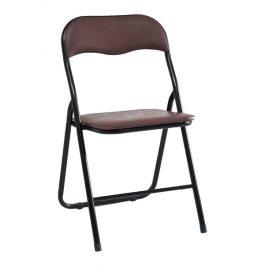 Casarredo Kovová čalouněná židle TIPO hnědá