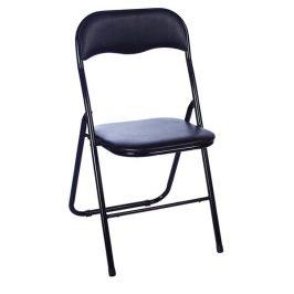 Casarredo Kovová čalouněná židle TIPO černá