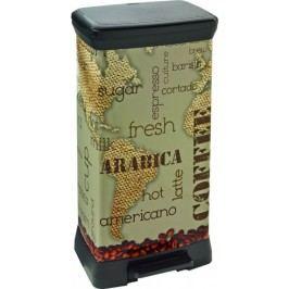 Curver Odpadkový koš DECOBIN 50L - COFFEE