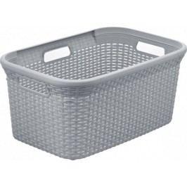Curver Koš na čisté prádlo RATTAN STYLE 45L - šedý