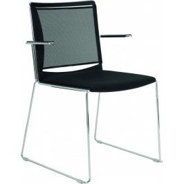 Alba Konferenční židle Filo plast/síť - s područkami
