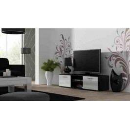 Cama Televizní stolek SOHO 140 - černá/bílá Stolky pod TV