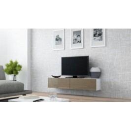 Cama Televizní stolek VIGO 140 - bílá/latte