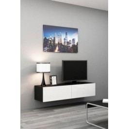Cama Televizní stolek VIGO 140 - černá/bílá