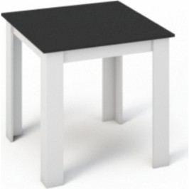 Tempo Kondela Jídelní stůl KRAZ 80x80 - Bílá / Černá