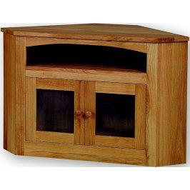 Unis TV stolek rohový se sklem 22181 dub
