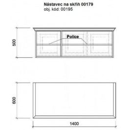 Unis Nástavec 00195 na trojdílnou skříň 00179