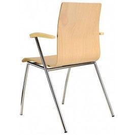 Alba Konferenční židle Ibis s područkami - dřevěná