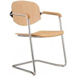 Alba Konferenční židle Wendy dřevěná cantilever