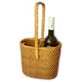 Axin Trading Ratanový košík na 2 láhve