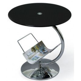 Halmar Odkládací stolek Alma Čiré sklo