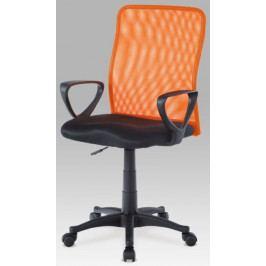 Autronic Kancelářská židle KA-BERT ORA - oranžová