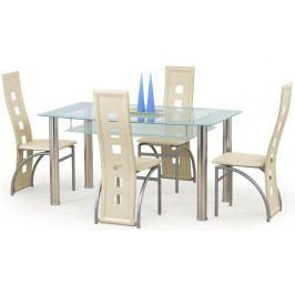Halmar Jídelní stůl Cristal Černé sklo