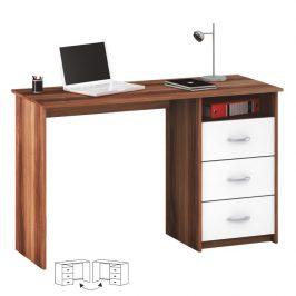 Tempo Kondela PC stůl LARISTOTE - švestka/bílá